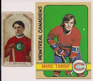 1972-73 topps 1911-12 c55 marc tardiff g dallaire hockey cards