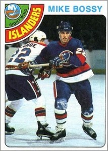 mike bossy 1978-79 o-pee-chee topps vintage hockey rookie card 115