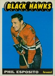 phil esposito 1965-66 topps vintage rookie hockey card