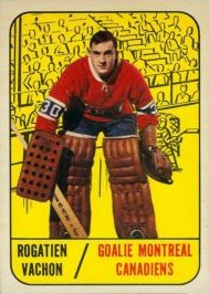 rogie vachon 1967-68 topps 75 rookie card montreal canadiens