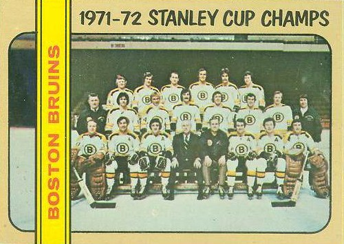 boston bruins 1972-73 topps #1 stanley cup champions