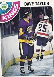 1978-79 o-pee-chee 353 dave taylor rookie card los angeles kings