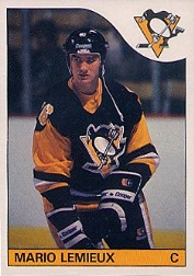 o-pee-chee topps 1985-86 #9 mario lemieux rookie card pittsburgh penguins
