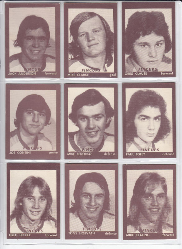 hamilton fincups 1974-75 hockey card set omjhl