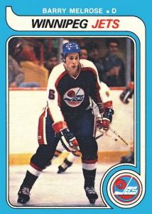 barry melrose rookie hockey card winnipeg jets 1979-80 o-pee-chee