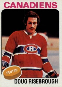 doug risebrough 1975-76 o-pee-chee rookie hockey card montreal canadiens