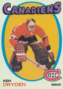 1971-72 o-pee-chee 45 ken dryden rookie hockey card montreal canadiens