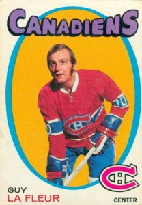 guy lafleur o-pee-chee rookie hockey card