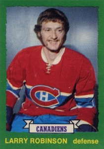 larry robinson rookie hockey card 1973-74 o-pee-chee 237