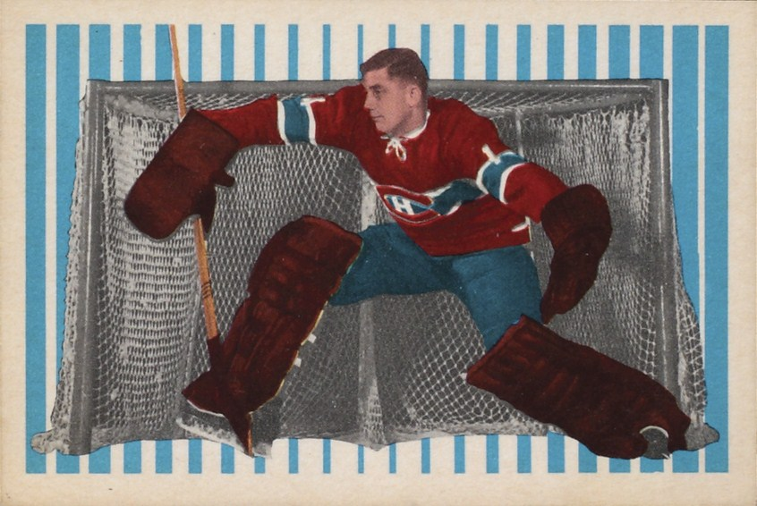 cesare maniago montreal canadiens rookie hockey card