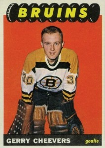 gerry cheevers 1965-66 topps rookie hockey card