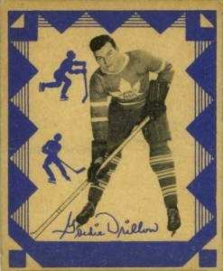 gordie drillon 1937-38 o-pee-chee v304e rookie hockey card