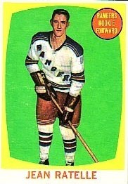jean ratelle rookie hockey card 1961-62 topps