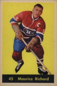 maurice richard montreal canadiens 1960-61 parkhurst nhl hockey card