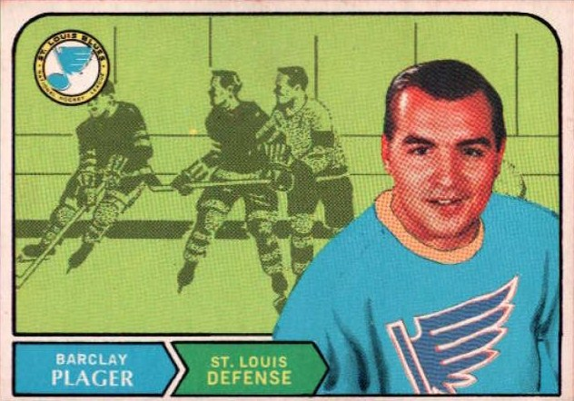 barclay plager st. louis blues 1968-69 o-pee-chee