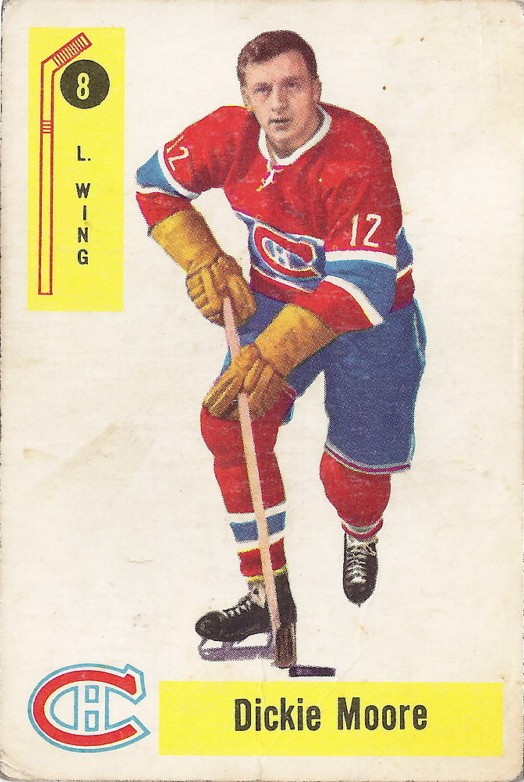 dickie moore montreal canadiens 1958-59 parkhurst hockey card