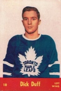 dick duff rookie hockey card toronto maple leafs