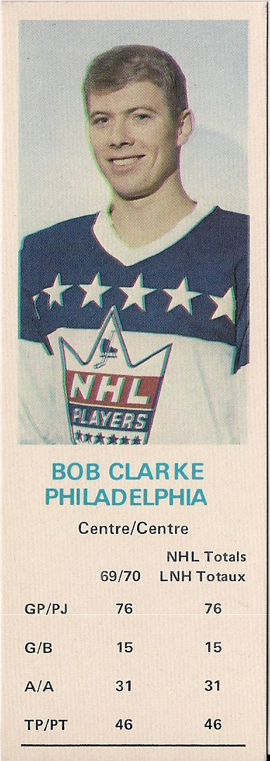 bobby clarke 1970-71 hockey card