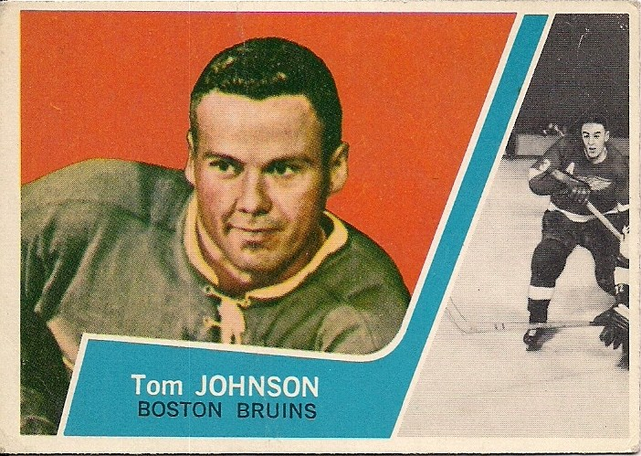 tom johnson boston bruins 1963-64 topps hockey card