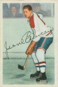 1953-54 jean beliveau parkhurst rookie hockey card