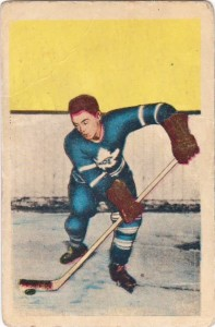 george armstrong rookie card 1952-53 parkhurst toronto maple leafs