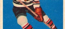 ron murphy chicago blackhawks 1957-58 topps hockey card