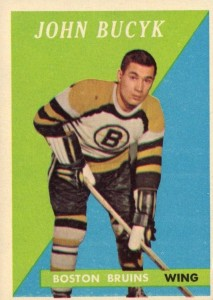 johnny bucyk 1958-59 topps boston bruins hockey card