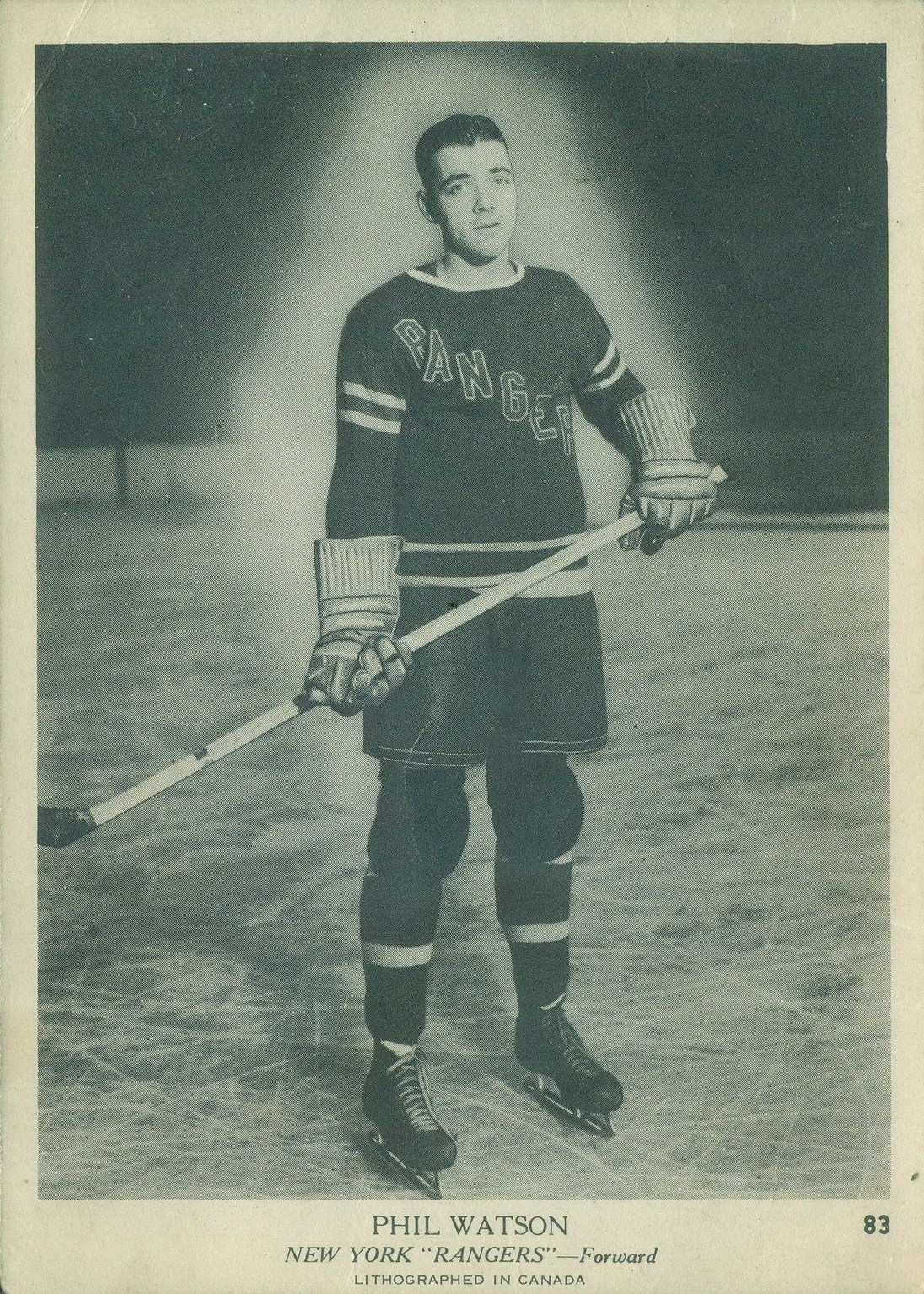 Second Inaugural >> Phil Watson: A Star During the Dark Ages of Hockey Cards