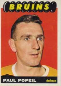 poul popiel 1965-66 topps rookie card boston bruins
