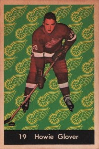 howie glover 1961-62 parkhurst rookie card detroit red wings