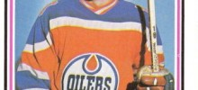 mike rogers edmonton oilers rookie hockey card