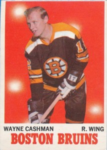 wayne cashman boston bruins 1970-71 o-pee-chee rookie card