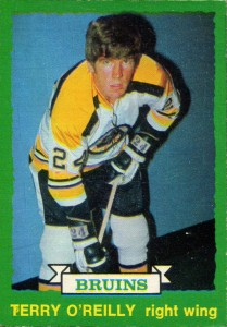 terry o'reilly boston bruins 1973-74 o-pee-chee 254 rookie hockey card