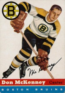 don mckenney boston bruins 1954-55 topps nhl hockey cards