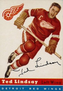 ted lindsay detroit red wings 1954-55 topps