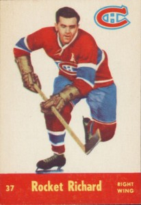 maurice richard 1955-56 parkhurst 37 montreal canadiens
