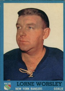 gump worsely 1962-63 topps new york rangers hockey card