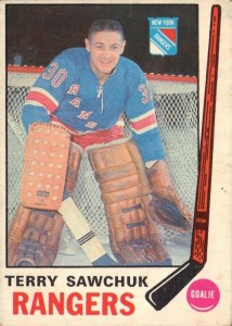 terry sawchuk new york rangers 1969-70 o-pee-chee rookie card