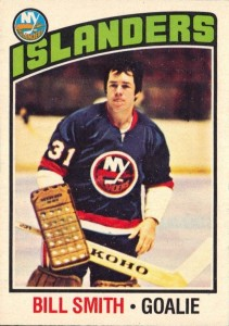 billy smith new york islanders 1976-77 o-pee-chee nhl hockey card