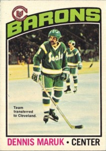 dennis maruk cleveland barons 1976-77 o-pee-chee rookie card