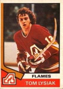 tom lysiak atlanta flames 1974-75 o-pee-chee nhl hockey card