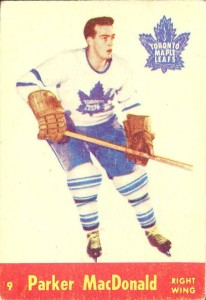 parker macdonald toronto maple leafs 1955-56 parkhurst rookie card