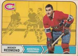 mickey redmond montreal canadiens 1968-69 o-pee-chee nhl hockey card