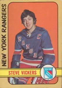 steve vickers new york rangers 1972-73 o-pee-chee rookie card