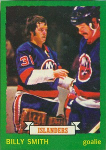 billy smith new york islanders 1973-74 o-pee-chee nhl rookie hockey card