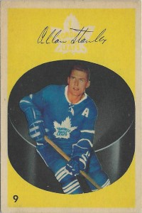 allan stanley toronto maple leafs 1962-63 parkhurst nhl hockey card
