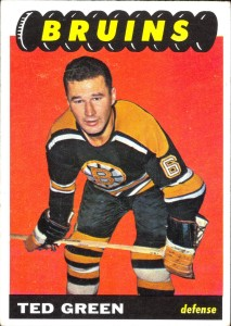 ted green boston bruins 1965-66 topps hockey card