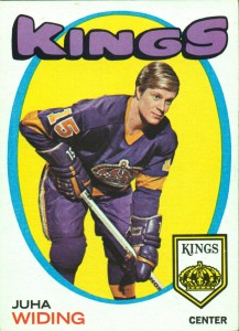 juha widing los angeles kings 1971-72 o-pee-chee rookie card