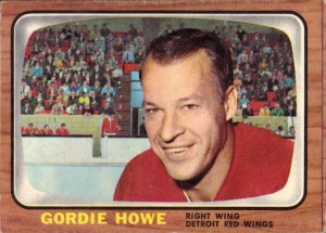 gordie howe detroit red wings 1966-67 topps hockey card