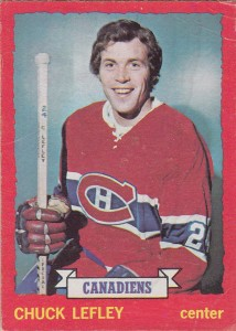 chuck lefley montreal canadiens 1973-74 o-pee-chee nhl rookie hockey card